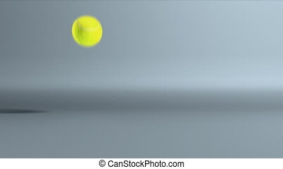 tennis ball bouncing - Tennis ball bouncing is for animation...