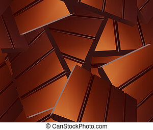 Delicious Sparse chocolate bars background