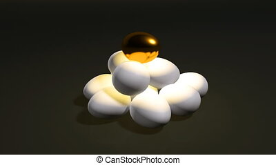 egg gold set b - golden egg animation for saving money...