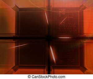 digital red Cube Pal - Modern digital 3D cube background...