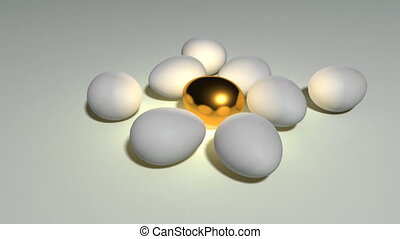 golden egg loop white - golden egg animation for saving...