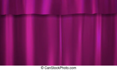 Barbie pink curtains stage