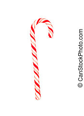 Candy cane on white