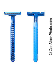 Blue disposable razor blade - New disposable razor blad...