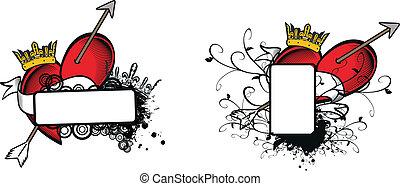 heraldic heart arrow crest4 - heraldic heart arrow crest...