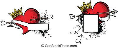 heraldic heart arrow crest9 - heraldic heart arrow crest...