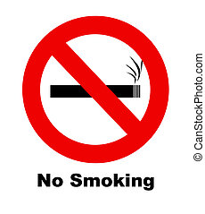 No smoking sign - A no smoking sign for use in any smoking...