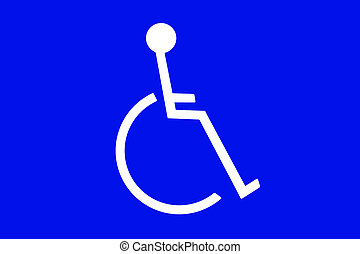 Handicapped communication sign - A handicapped sign for use...