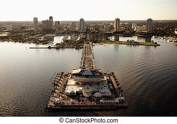 St Petersburg Aerial View - Aerial View of the Landmark Pier...