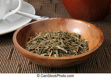 China Sencha Tea - A bowl of china sencha tea