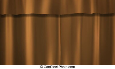 Champagne Gold curtains stage - curtains opening for...