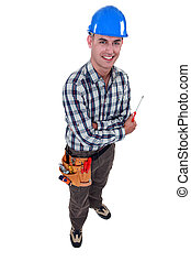 Man with a screwdriver