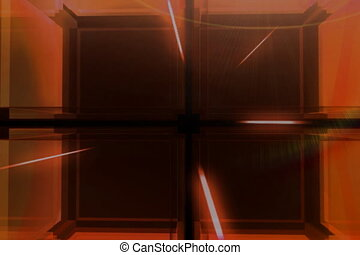 Red Cube ntsc - Modern digital 3D cube background better for...