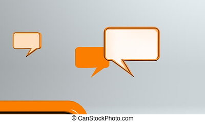 orange many conversation icons