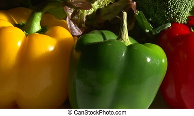 Vegetables, rotate, hard light