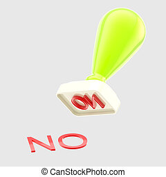 """No"" rubber stamp isolated"
