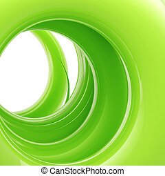 Abstract background: green tonnel made of twirl - Abstract...