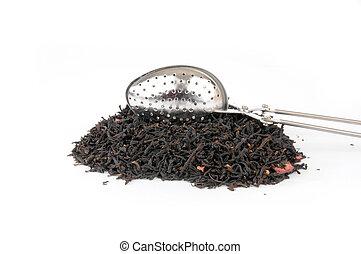 Tea infuser on white