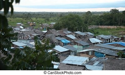 Huts, City In Rainforest Iquitos