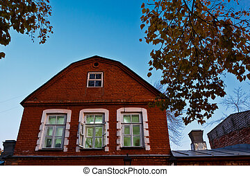 Traditional Red Brick House in Samara, Russia
