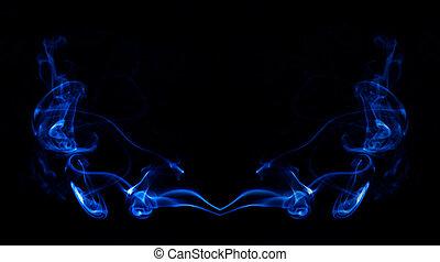 Raucher - Rauch eines Rucherstbchens gespiegelt und...