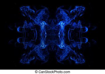 Raucher - Rauch eines R?ucherst?bchens gespiegelt und...