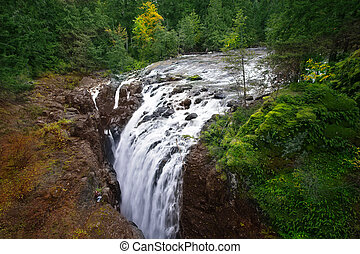 The Englishman River Falls - Cascade picturesque falls on...