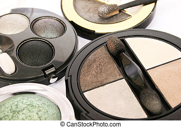 Eye shadows - Colorful eye shadows closeup picture