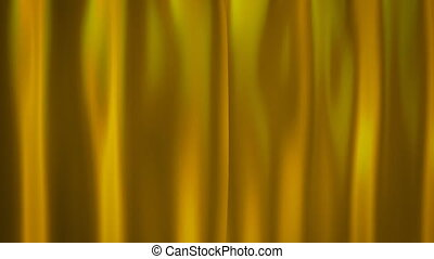 gold curtains - curtains opening for celebration