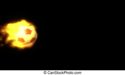 fire soccer side with alpha - football fire motion...