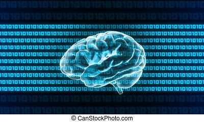 brain digital 1010 - X-ray Brain to represent the theme of...