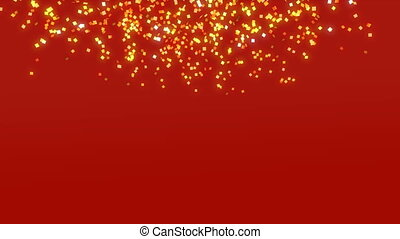Chinese gold Paper Falling loop - confetti paper background