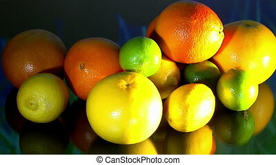 Fruits, colorful moving lights - Fruits, fresh healthy food,...
