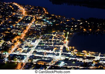 Queenstown, New Zealand - Aerial View of Transportation...