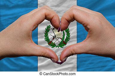 encima, nacional, bandera, guatemala, demostrado,...