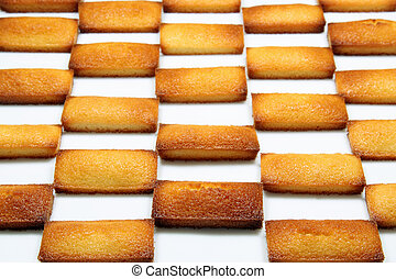 financier - details of a french pastry, the financier