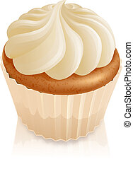 Fairy cake cupcake - Illustration of fairy cake cupcake with...