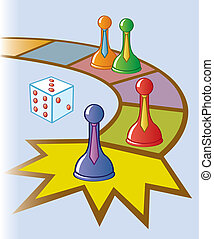 Business Board Game - A board game with peices wearing ties...