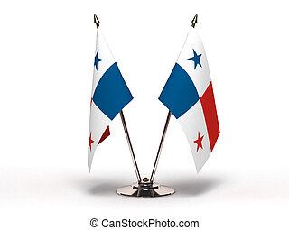 Miniatura, bandera, Panamá, (Isolated)