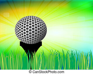 Golf design, vector