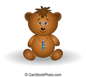 Teddy bear cub with a sweet - Toy teddy bear with a sweet on...