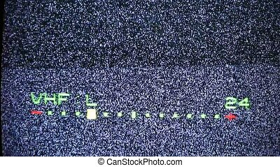television noise background