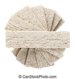 dietetic cookies on a white background