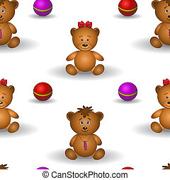 Background, teddy bears - seamless background, teddy bears...
