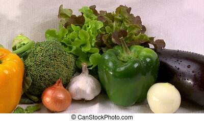 Vegetables, cam dolly - Vegetables, fresh food, camera dolly