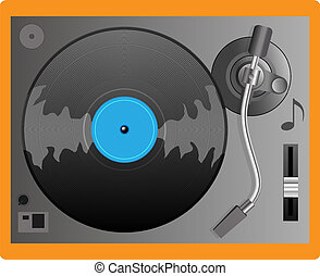 Illustration of a turntable