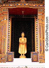 The Statue of Buddha in Church.