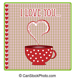 greeting card with hearts and love