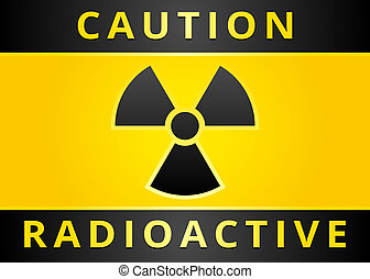 Label caution sign Sticker radiation hazard symbol