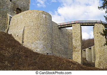 Ruins of an old castle in Europe